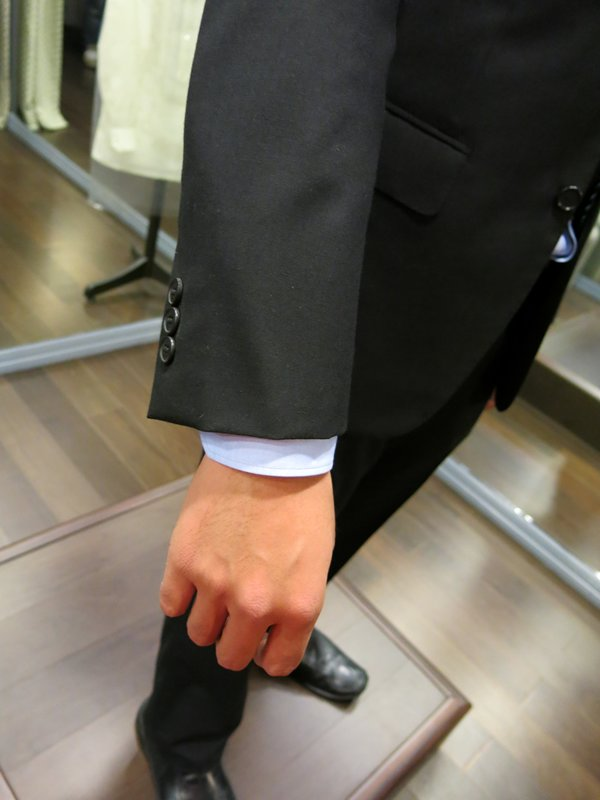 Cuff should show about 0.5 inch suit