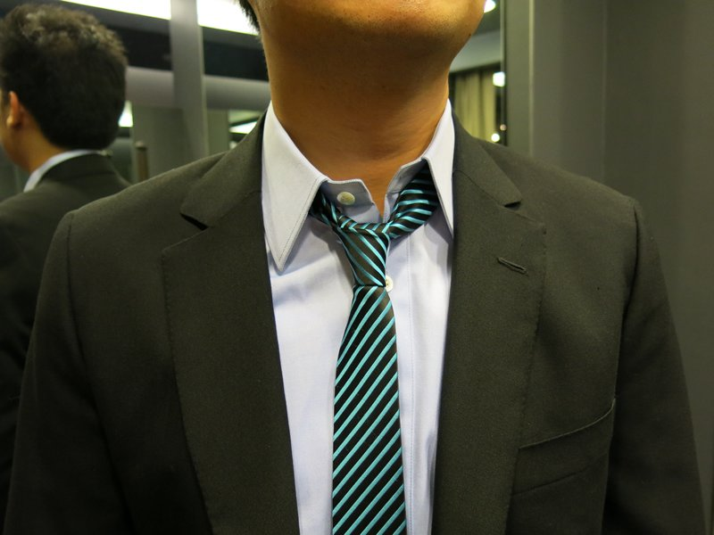 Unbuttoned Collar