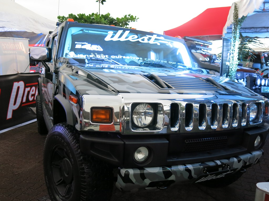 Camouflaged Hummer
