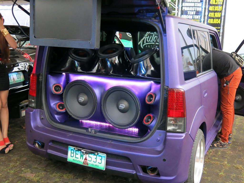 Car with customized audio equipment
