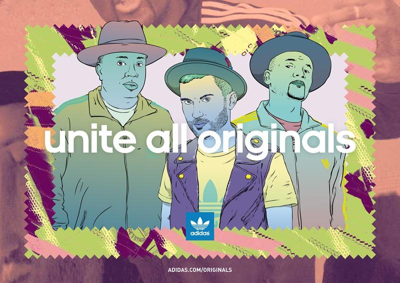 adidas Originals collaborates with hip-hop legends Run DMC and DJ A-Trak in the latest adidas Originals campaign