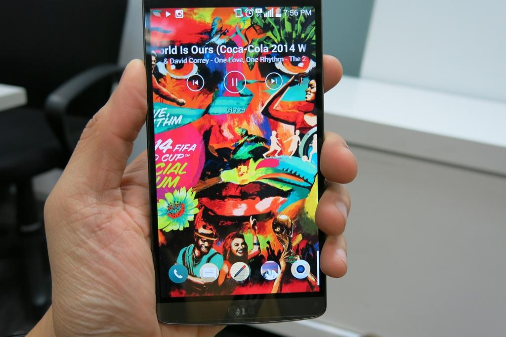 LG G3 Fullscreen Album Art