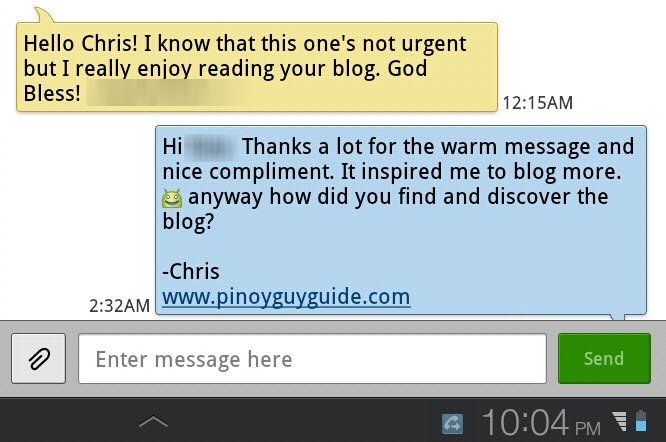 Messages from PGG Readers (1)