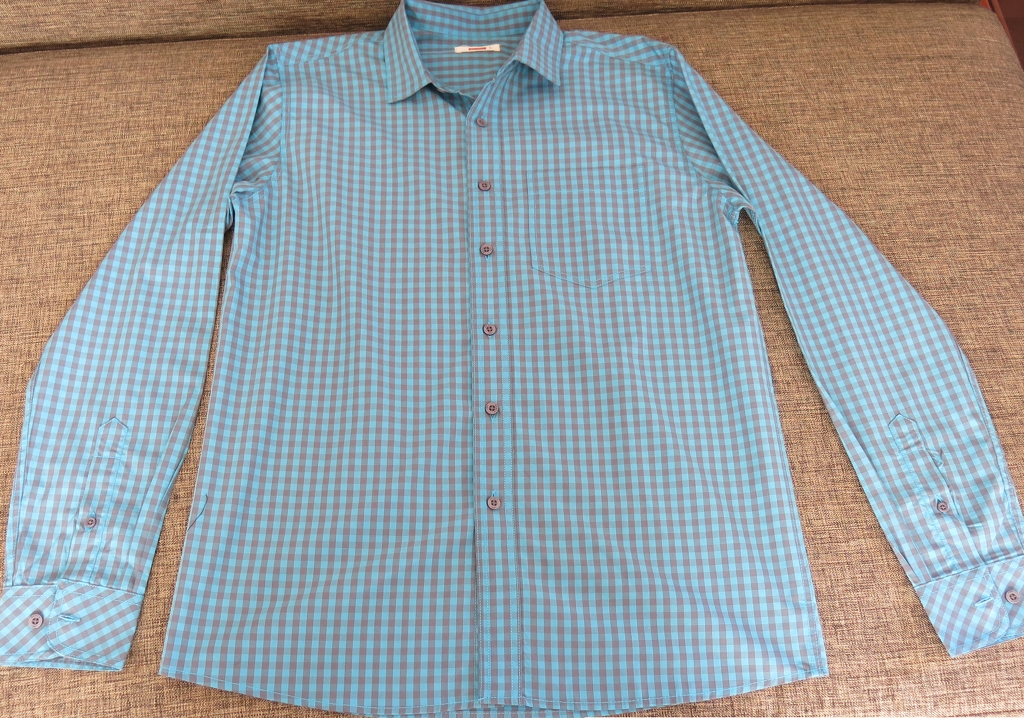 Bench Checkered Teal Polo for Men (1)