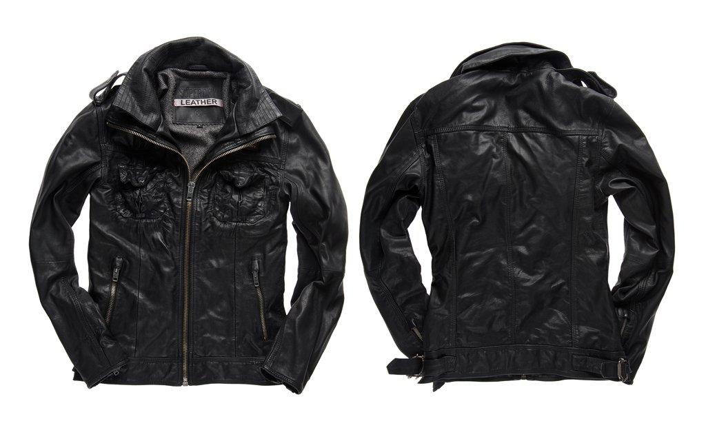Superdry Leather Jacket for Men