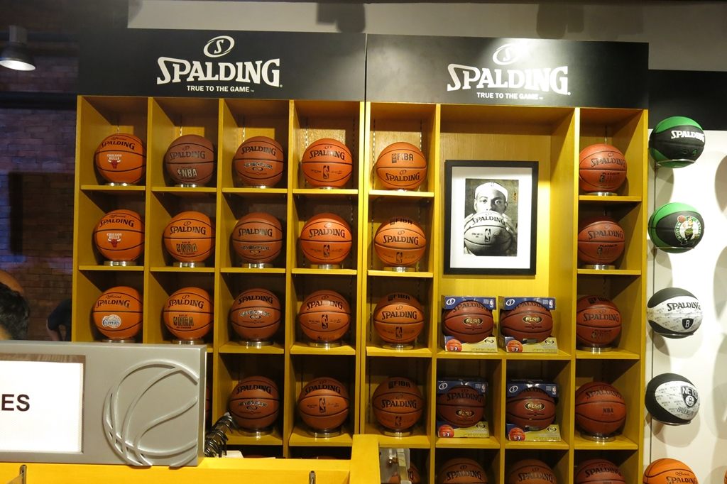 Spalding at the NBA Store