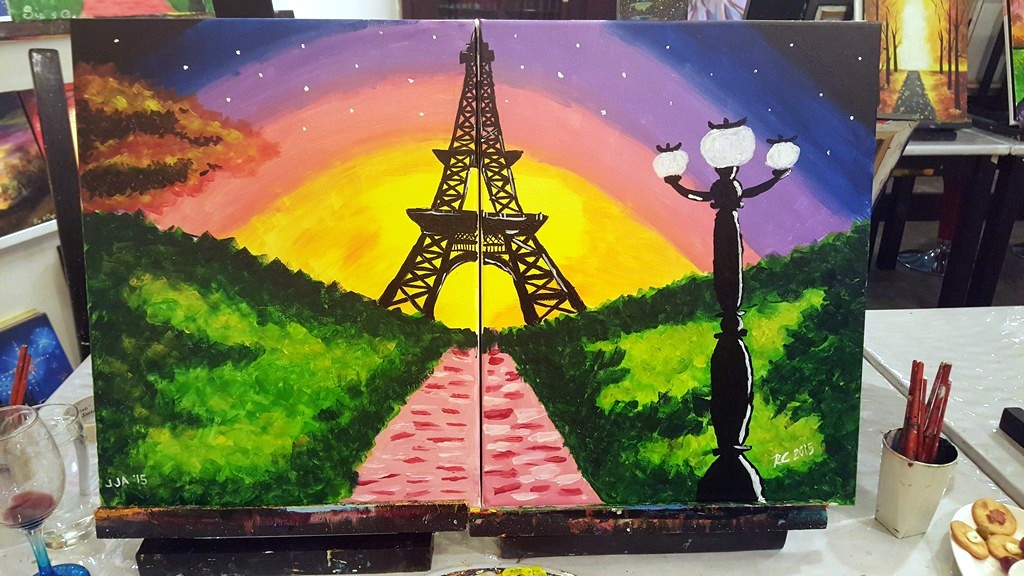 Sip & Gogh Eiffel Tower