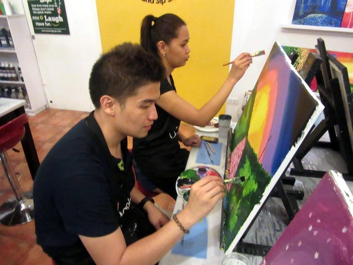 Sip & Gogh painting class