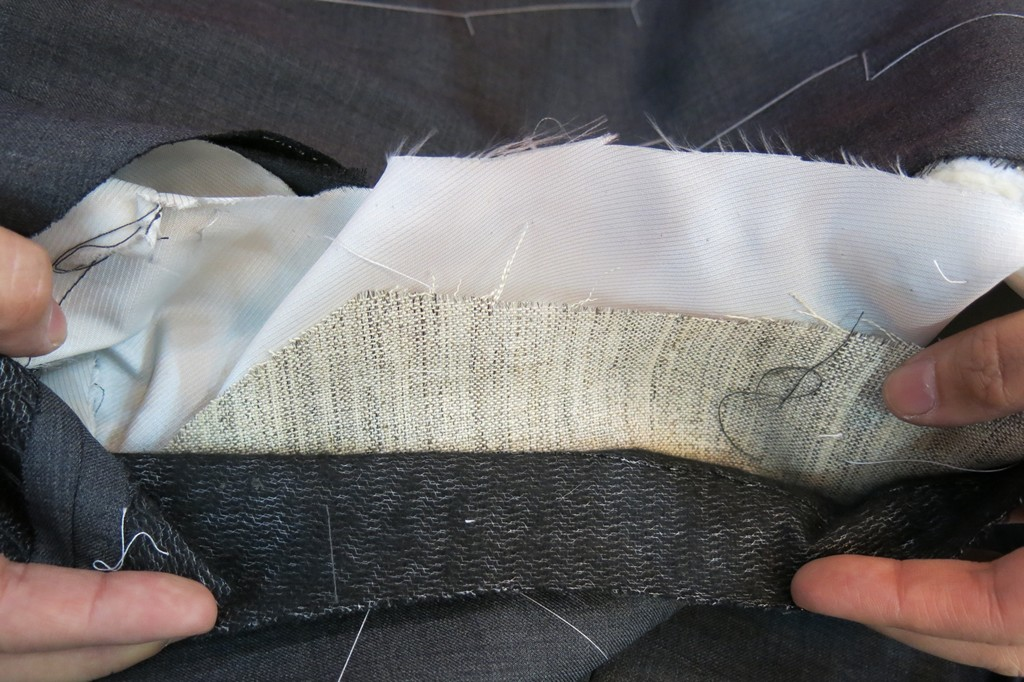 Assembling a suit jacket