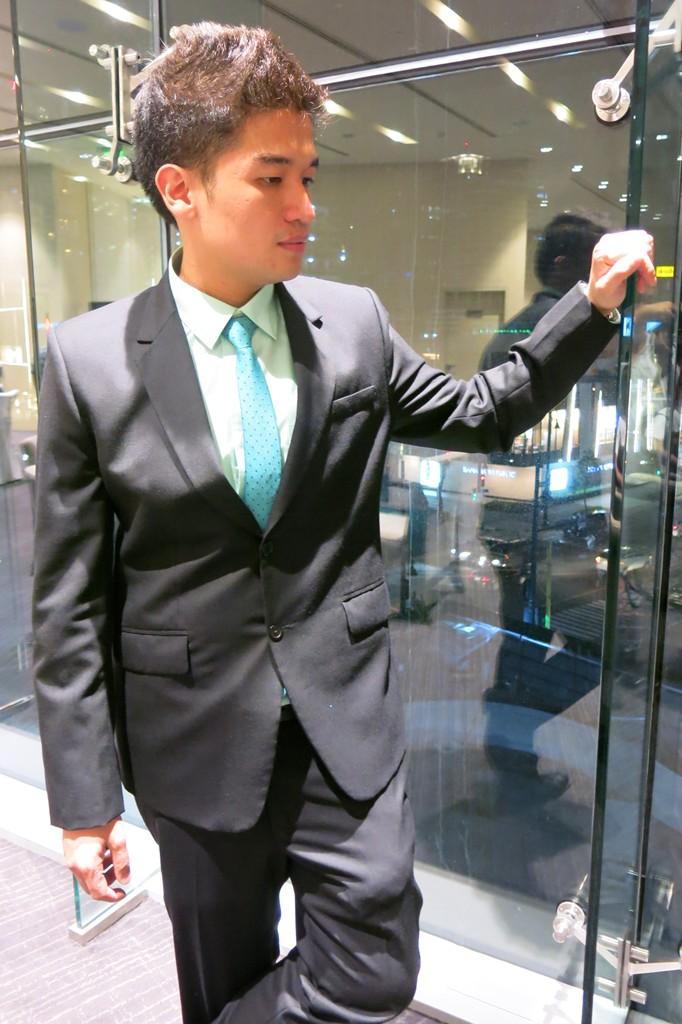 Black Suit with Mint Green Dress Shirt for Men