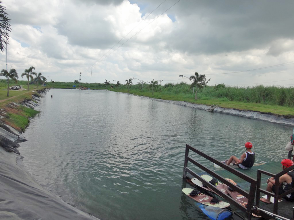 Wakeboarding lake in Nuvali