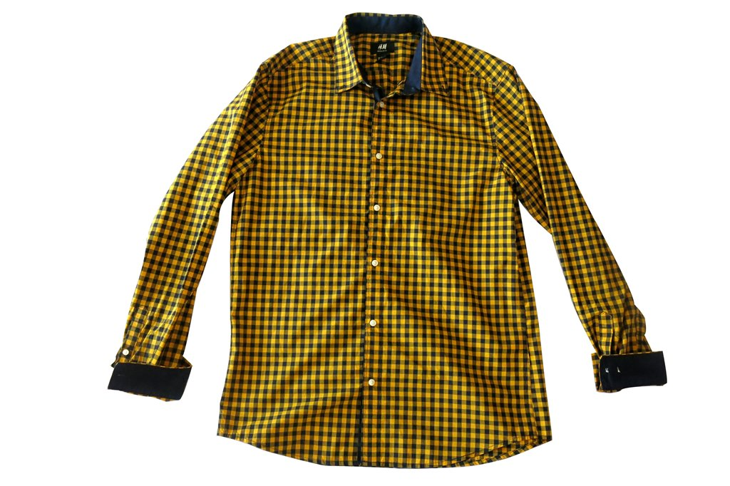 H&M Men's Gingham Long-Sleeved Shirt (1)