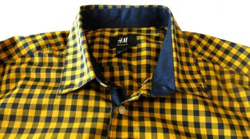 H&M Men's Gingham Long-Sleeved Shirt (2)
