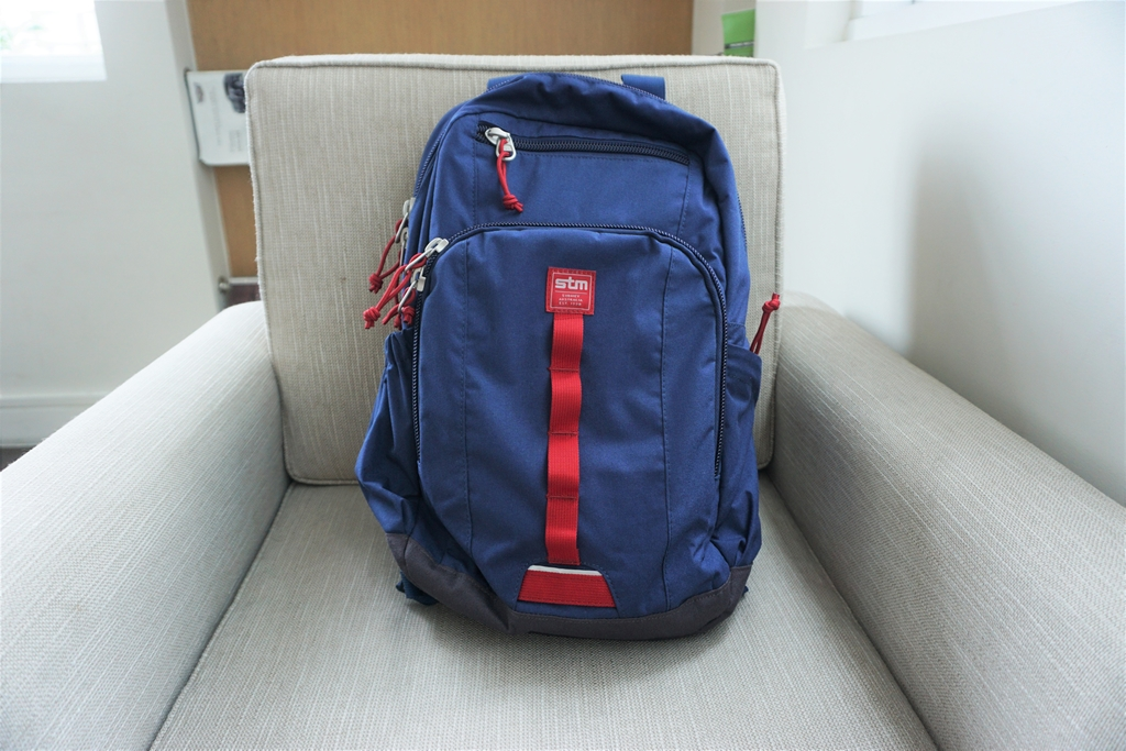 "STM Trestle 13"" Laptop Backpack – Navy Blue (1)"