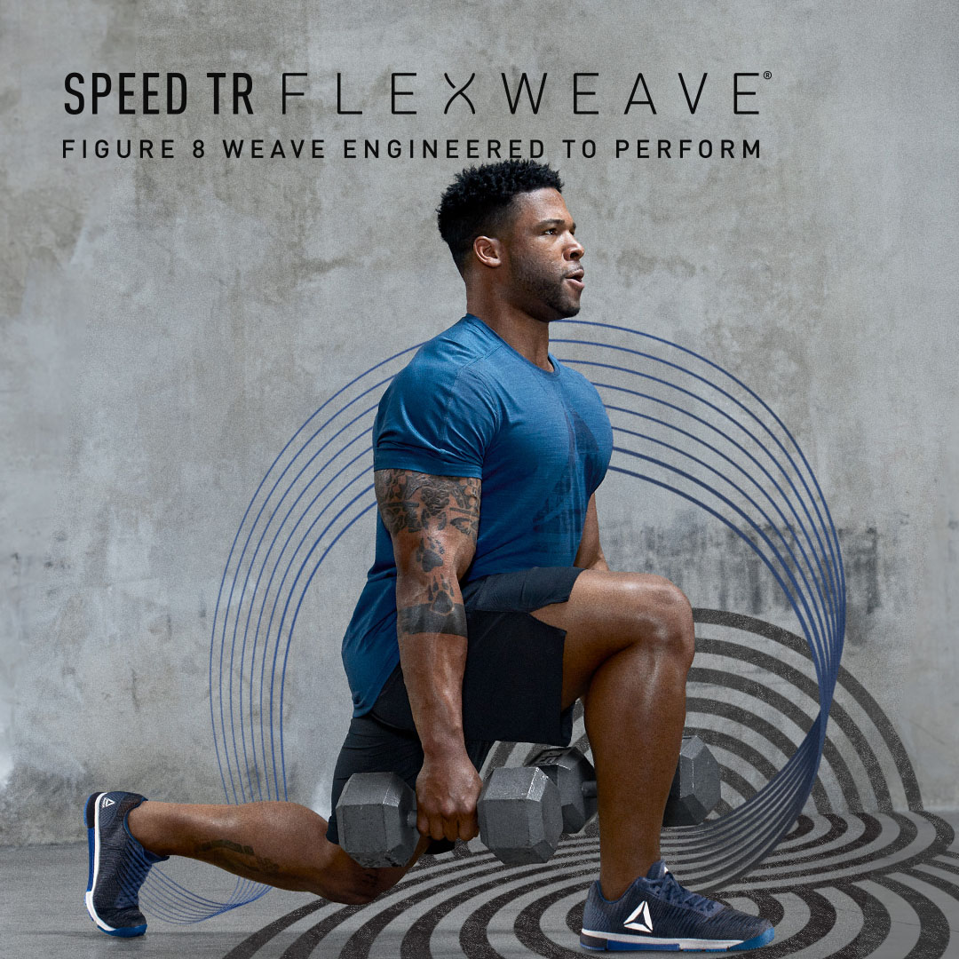 Performance-traction soles that gives you an edge no matter what surface  you are training in. The Reebok Speed TR Flexweave ... b247c610b
